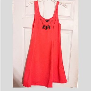 NWT 5th & Love Coral Dress with Necklace